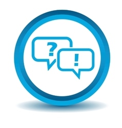 Question answer icon blue 3D vector