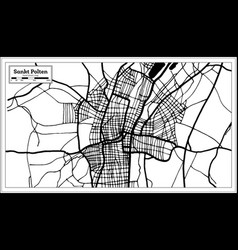 Sankt polten austria city map in black and white vector
