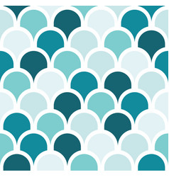 Seamless turquoise tone scale pattern background vector