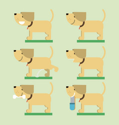 Set of dog vector