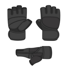 Set with sports training gloves vector