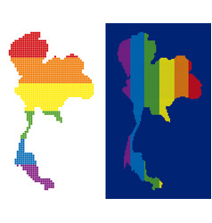 spectrum pixel dotted thailand map vector image