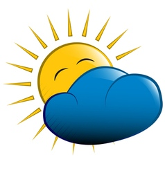 sun behind a cloud vector image
