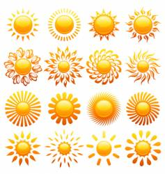 suns elements vector image