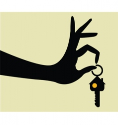 take the keys for home vector image