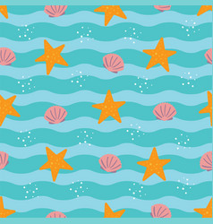 tropical beach trendy seamless pattern background vector image