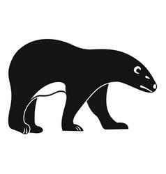 walking polar bear icon simple style vector image
