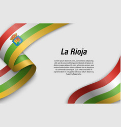 Waving ribbon or banner with flag communities of vector