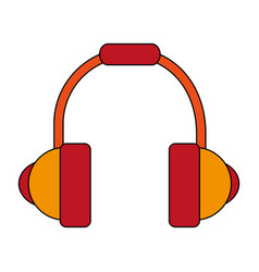 White background with headset stereo sound vector