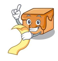 With menu caramel candies mascot cartoon vector