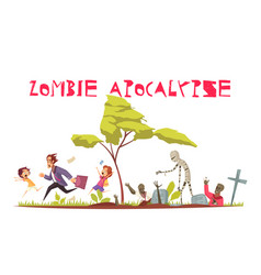 Zombie attack concept vector