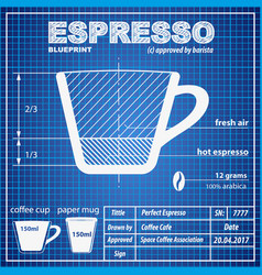 coffee espresso composition and making scheme vector image