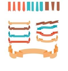 Flat style ribbons set vector image