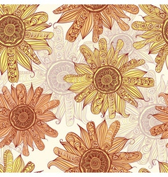 hand drawn sunflower vector image vector image