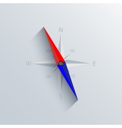 modern compass background vector image