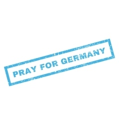 Pray For Germany Rubber Stamp vector image vector image