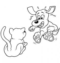 terrified dog vector image