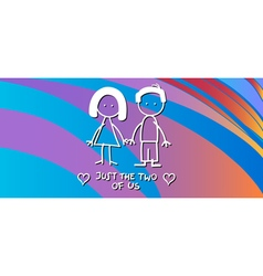 valentine card with couple vector image vector image
