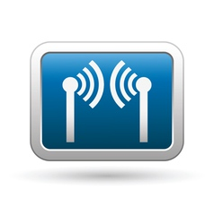 Wireless icon on vector image vector image