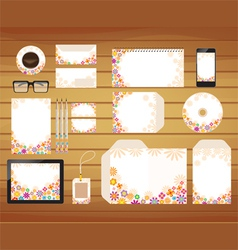 brand identity business style retro vector image vector image
