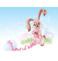 easter rabbit vector image vector image