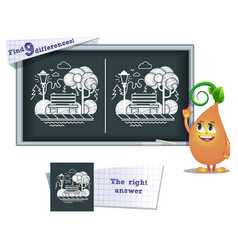 game find 9 differences park vector image vector image