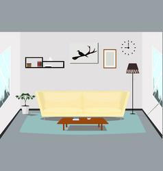 interior living room design indoor vector image
