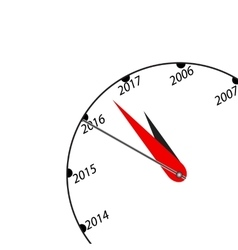 New Year black and white clock vector image vector image