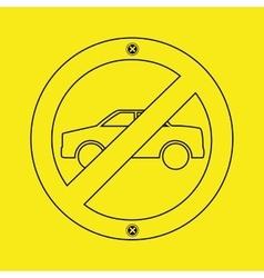prohibited traffic sign round icon design vector image