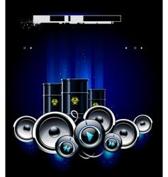 speakers barrels vector image vector image