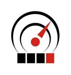 temperature sensor logo icon simple style vector image vector image