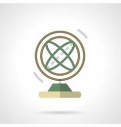 Atom model flat color design icon vector image vector image