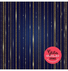 Background glitter gold shining strips vector image