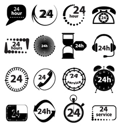 Customer service icons set vector image vector image