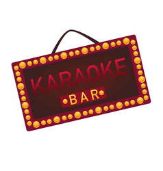 karaoke round stage with stairs and golden vector image