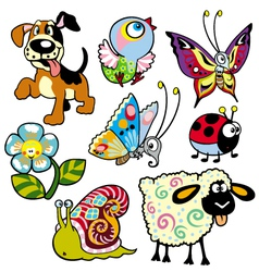 Set with pictures for children vector