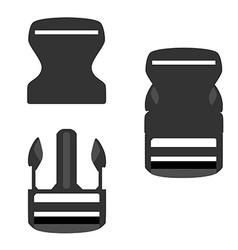Backpack buckle vector image