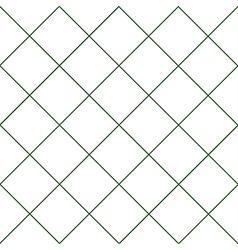 Dark Green Grid White Diamond Background vector image vector image