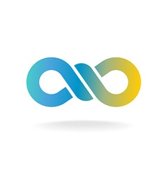 Infinity knot logo Colorful chain link symbol with vector image