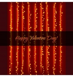 Lightning Garland With Hearts vector image