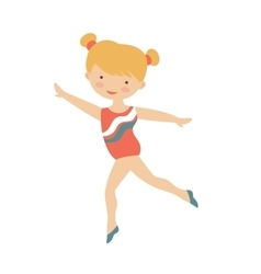 Little gymnast girl character vector