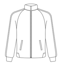 polo sport jacket mock up outline style vector image