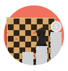 step strategy finance vector image vector image