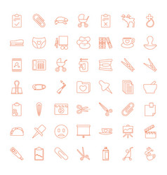 49 clip icons vector image