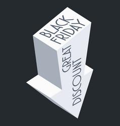 a black friday sale arrow sign vector image
