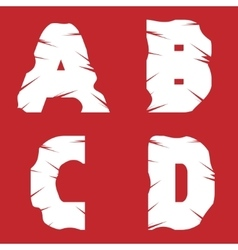 ABCD grunge letters vector