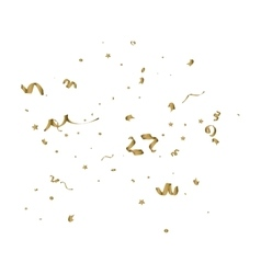Abstract background with alling golden tiny vector image