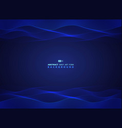 abstract blue technology wavy design modern vector image