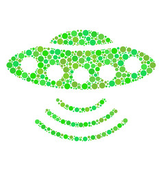 Alien invasion composition of dots vector