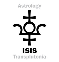 astrology planet isis vector image
